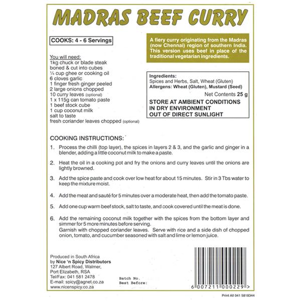 how to make madras curry